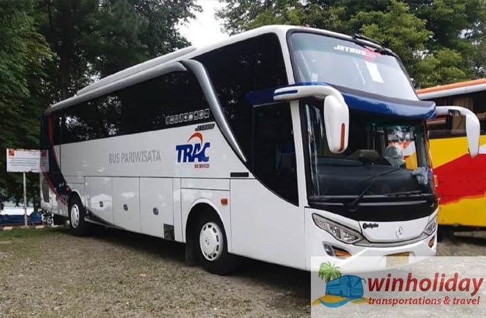 harga sewa bus hdd atau shd di Jakarta