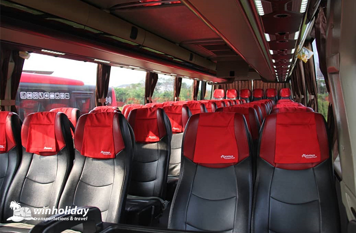 Interior big bus antavaya 59 seats tampak depan 2