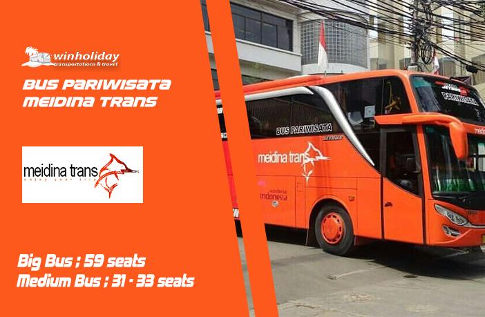 Daftar harga sewa Bus meidina trans
