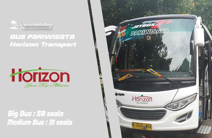 Daftar Harga Sewa Bus Pariwisata Horizon Terbaru 2021
