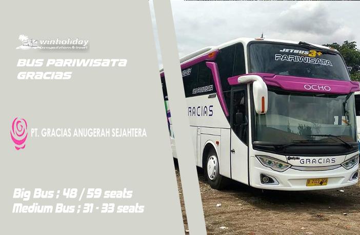 Info Lengkap Foto & Daftar Harga Sewa Bus Pariwisata Gracias